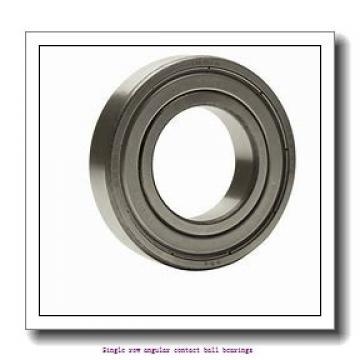 25 mm x 62 mm x 17 mm  25 mm x 62 mm x 17 mm  ZKL 7305BTNG Single row angular contact ball bearings